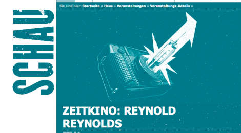 17 September 8pm retrospective: 'ZEITKINO: REYNOLD REYNOLDS' at Schaubühne Lindenfels, Leipzig