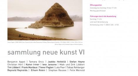 7.12.2012- 31.3.2013 sammlung neue kunst VI- H2 Zentrum für Gegenwartskunst im Glaspalast Augsburg