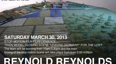 30.3.2013 Stop-Motion Film Performance: Train Model closing scene for 'The Lost' at Christopher Grimes Gallery