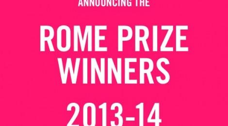 Reynold Reynolds awarded Rome Prize 2013/2014